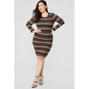 [Fashion Nova] Out of Control Midi Dress